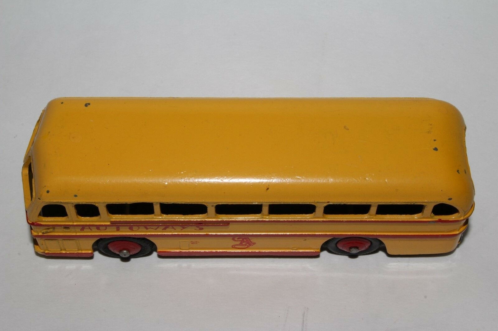 1950's Dinky    282 Leyland Royal Tiger Bus, Private Line Autoways,  Original 6475a5