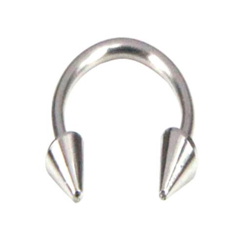 5PCS Horseshoe Bar Lip Nose Septum Tragus Ear Ring Various Sizes Cones Set US