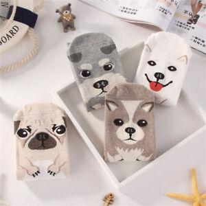 Novelty-3D-Unisex-Animal-Printed-Cotton-Casual-Socks-Cute-Dog-Ankle-Socks