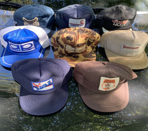 Lot Of 8 Vintage Trucker Hats Patch USA Made Not K
