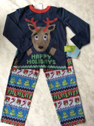 Target Ugly Christmas Sweater Happy Holidays Reindeer Pajamas 12 18 3T 4T 5T