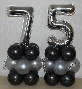 Image Is Loading 75th BIRTHDAY AGE 75 SILVER PARTY FOIL BALLOON