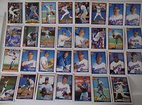 1991 Topps Texas Rangers Team Set of 31 Baseball Cards