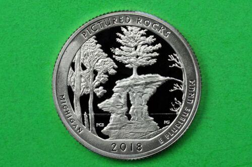 Quarter 2018-S Silver GEM Proof Deep Cam Pictured Rocks Lakeshore 90/% Silver
