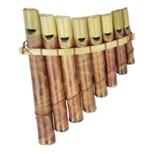Panfloete-Bambus-Floete-Pfeife-Lotusfloete-Holz-Kinder-Kinderfloete-Spielzeug-Musik