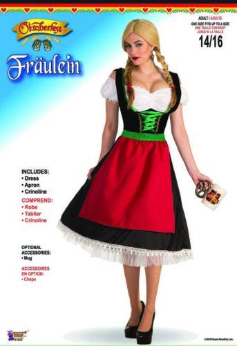 Fraulein Womens Adult Oktoberfest Beer Wench Halloween Costume-STD