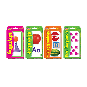 Early Skills Flash Cards - Alphabet, Rhyming, Shapes, Counting - Home Learning