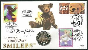 2002 Smilers Coin Cover - Signed Bunny Campione Sent Post Free