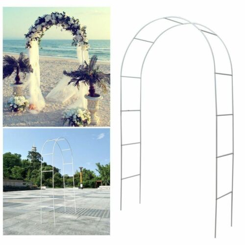 White Metal Arch Wedding Garden Bridal Party Decoration Prom Flower Arbor 7.5 Ft