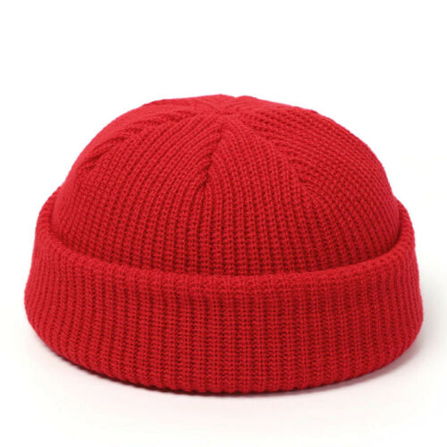 Knitted Hats for Women Men Warm Skullcap Beanie Hat Winter Retro Brimless Baggy