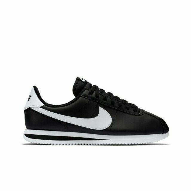 quality design 3f5ff 044ea New Nike Men's Classic Cortez Leather Shoes (819719-012) Black/White-Mtlc  Silver