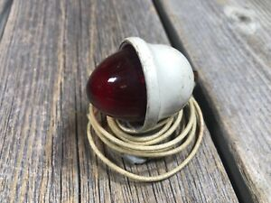 VINTAGE-ANTIQUE-BIKE-BICYCLE-FENDER-LIGHT-REAR-TAIL-LIGHT-DYNAMO-USED