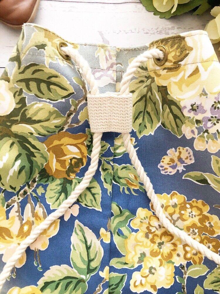 Vintage 1990's Laura Ashley Floral Cinch Backpack… - image 6