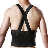 Waist Lumbar Support Suspenders Back Brace Weight Lifting Belt Protector Sports