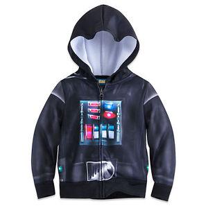 10fe3b2daae3 Disney Authentic Star Wars Darth Vader Hoodie Coat Jacket Boys Size ...