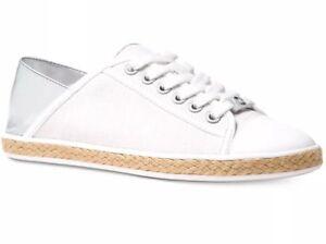 7ee0227aef07 New Michael kors Kristy canvas optic white slide sneaker canvas shoe ...
