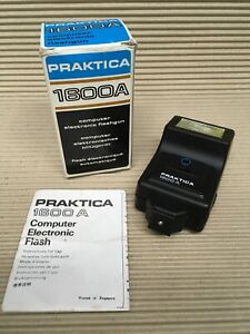 Praktica-1600a-Electronic-Hot-Shoe-Flash-Boxed-Full-working-order