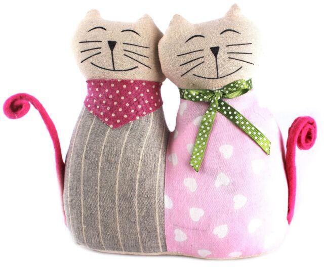 Pair Of Fabric Cats Doorstop ~ Cat Doorstop