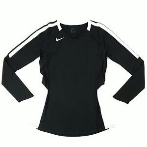 New Nike Vapor Pro Long Sleeve Volleyball Jersey Women's Medium 915025 Black