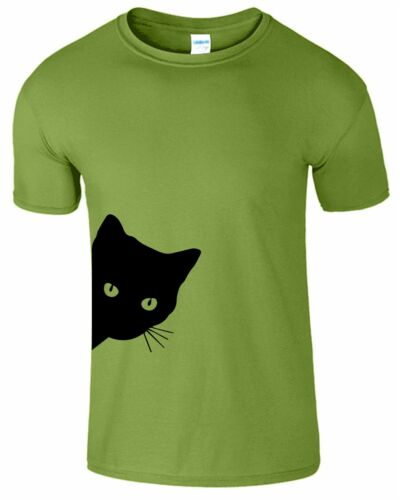 Summer Cat Mens Kids Kitty Printed Tshirt Short Sleeve Boys Girls Top T-Shirt