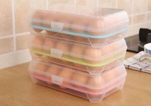 Plastic Eggs Storage Case Holder Box For Fridge Freezer Eggs Container Boxes New