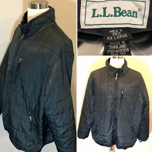 Ll Bean Quilted Jacket Mens Dark Green Xxl 2xl Synthetic