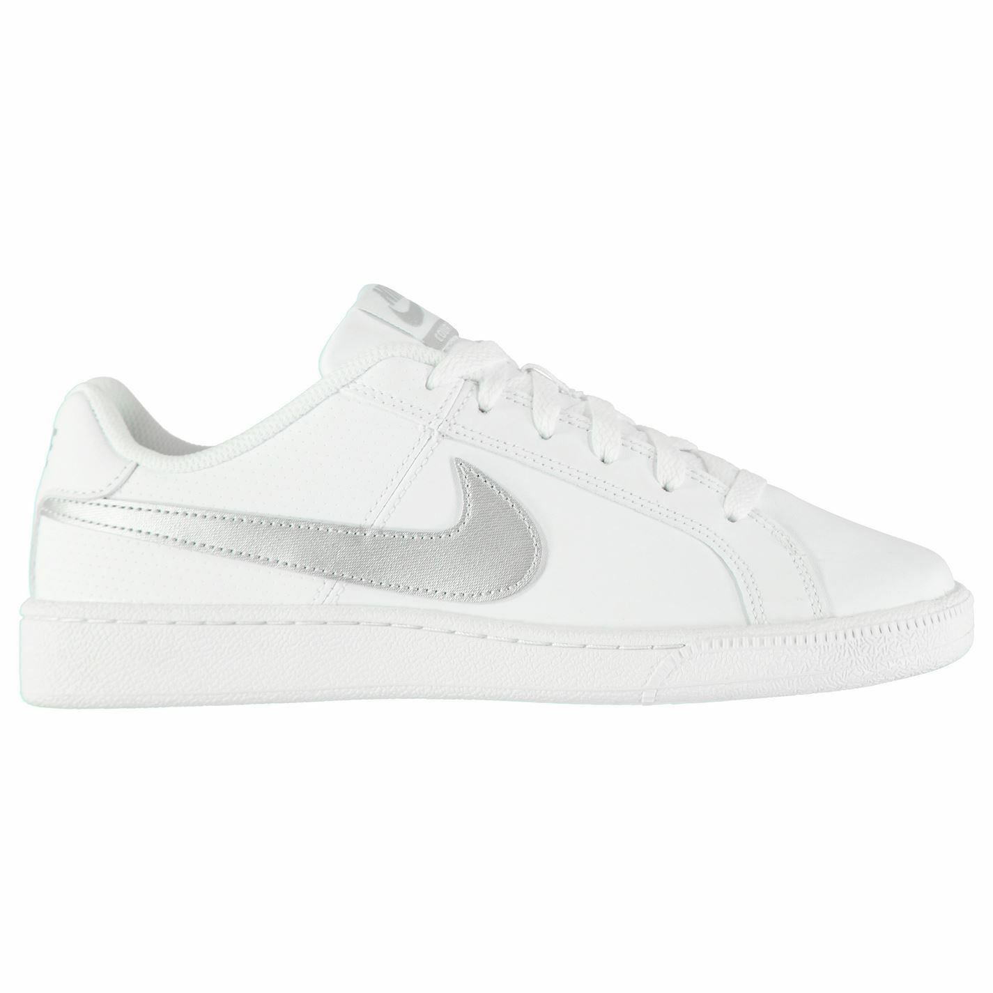 Nike Hof Royale Turnschuhe Damen Weiß Silber Silber Silber Sport Turnschuhe Sportschuhe   2321b5
