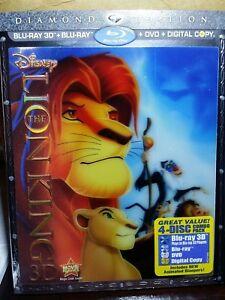 The Lion King 3d Blu Ray Dvd 4 Disc Set Diamond Edition W Lenticular Sleeve Ebay