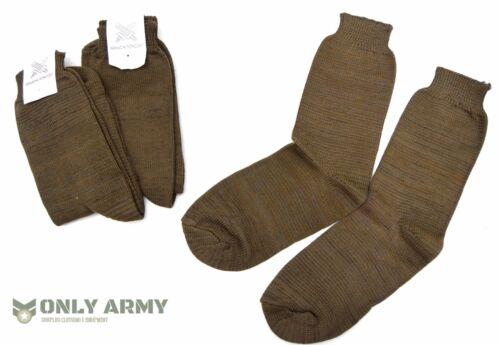 3 x Pares de Calcetines Eslovaca Ejército Marrón Mezcla De Lana cómodo y cálido Zapato Bota Nuevo