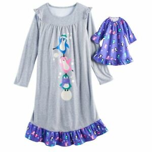 e066678bac Girl 4-14 and Doll Matching Penguin Nightgown Clothes ft American ...