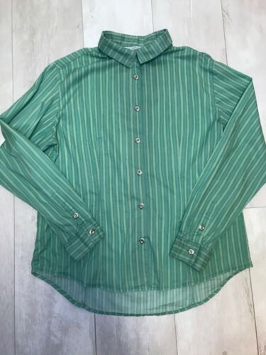 MARIMEKKO Jokapoika Women's Shirt Green Striped Co
