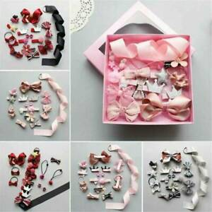 18Pcs-kit-Baby-Girl-Hair-Clip-Bow-Flower-Barrettes-Party-Kids-Hairpins-Headwear