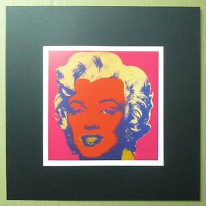 Andy-Warhol-serigraphic-print-039-Marilyn-039-1988-cfr-Marilyn-Monroe-1967-painting
