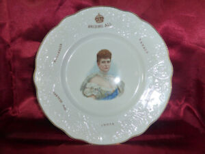 Antique-Queen-Mary-034-BRITONS-ALL-034-COMMONWEALTH-PLATE-Royal-Memorabilia-Doulton