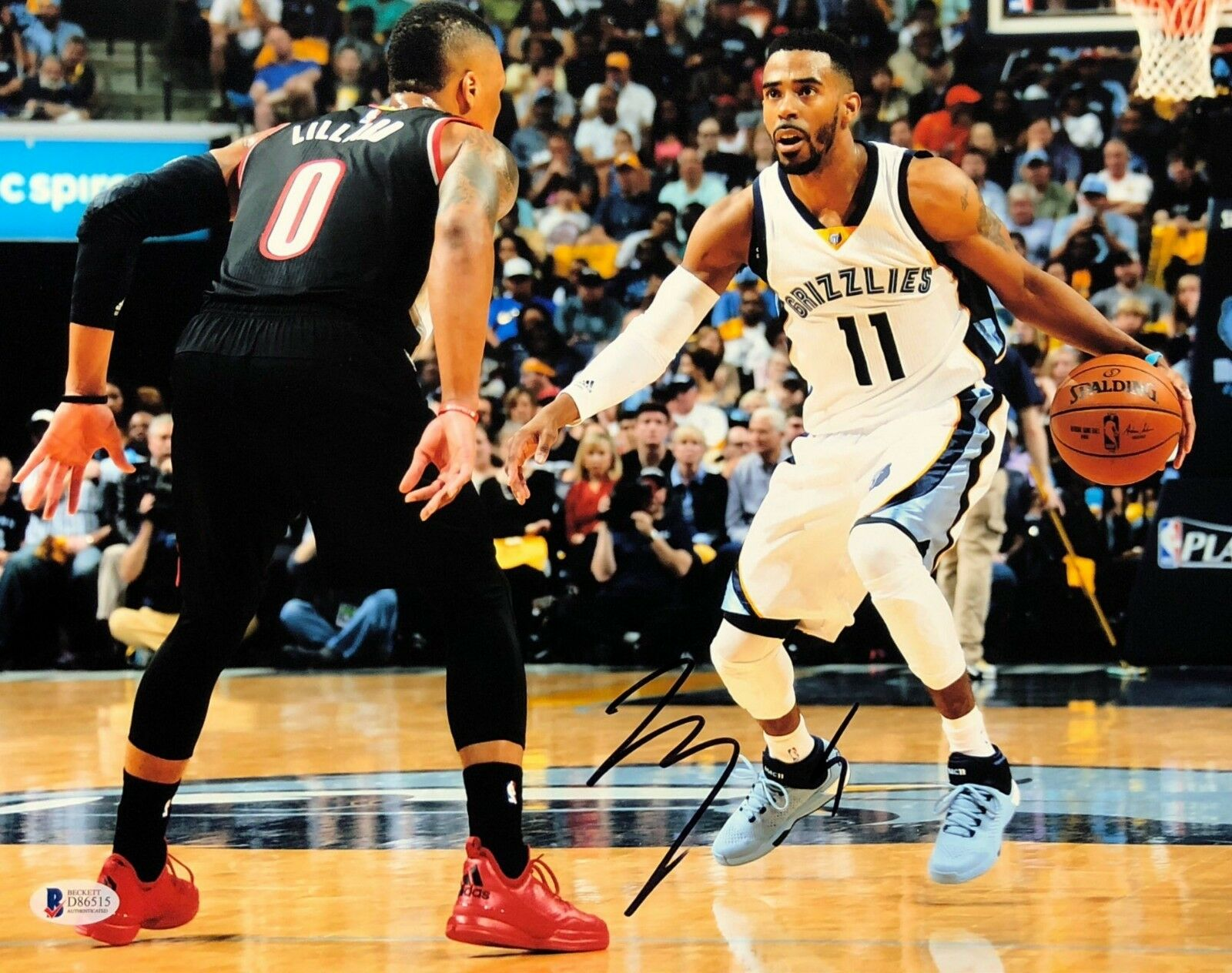 Mike Conley Signed Memphis Grizzlies 11x14 Basketball Photo Beckett BAS D86515