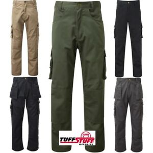 find workmanship well known run shoes Details about TUFFSTUFF PRO WORK TROUSERS KNEE PAD POCKET MENS 28-48