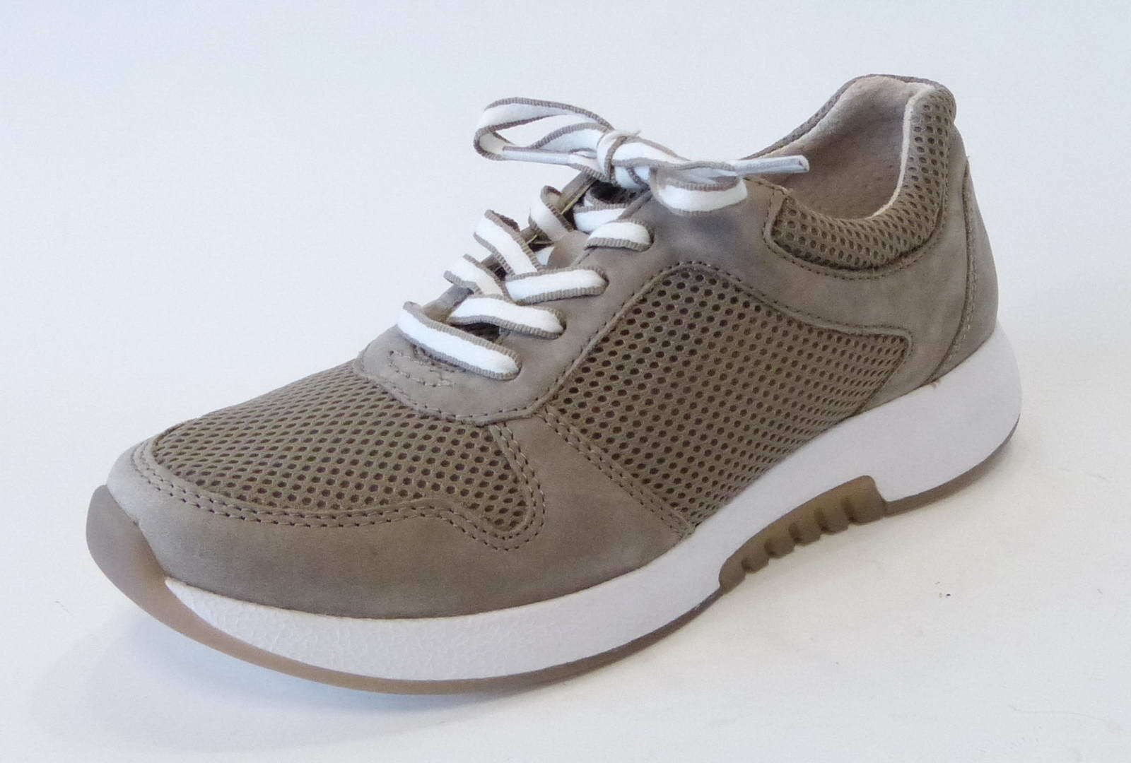 Gabor Comfort Comfort Comfort scarpe da ginnastica 946 33 VISONE BEIGE NABUK PELLE ROLING Soft mesh c8c885