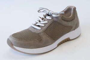 Details zu Gabor Comfort Sneaker 946 33 visone beige Nubuk Leder Roling Soft Mesh