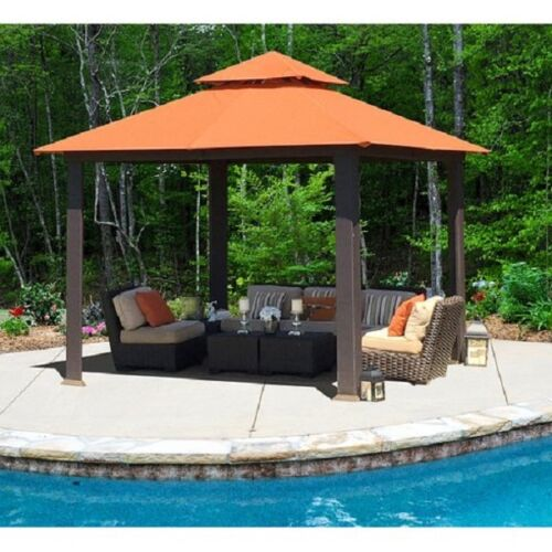 Outdoor Permanent Gazebo Large 10x10 Patio Pergola Style Sun Shade Garden Canopy & Outdoor Permanent Gazebo Large 10x10 Patio Pergola Style Sun Shade ...