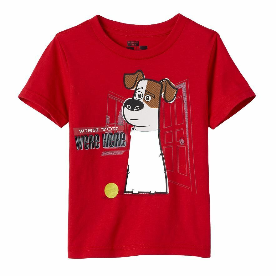 The Secret Life of Pets - Max - Wish You Were Here! Red T-Shirt For Boys
