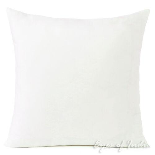 "16//20//24/"" Off-White Plain Cotton Sofa Couch Pillow Cushion Throw Cover Case Colo"