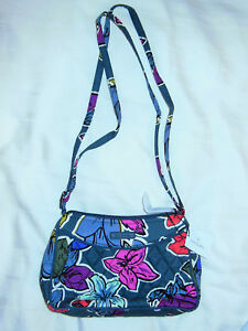 NWT Vera Bradley LITTLE CROSSBODY in FALLING FLOWERS purse 15455-I12 ... 758910cbfbd11
