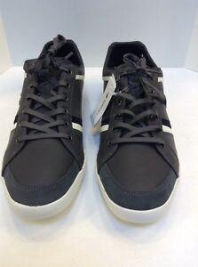 e6c6a37ad33 Lacoste Rayford 2 SRM Leather Casual Sneakers Dark Gray Men s 11.5 ...