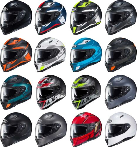 Full Face Motorcyle Street Bike Riding DOT Sun Visor Men Women HJC i 70 Helmet