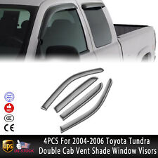 JDM Visors 2.0 mm 4pcs Out Channel Rain Guard For Toyota Tundra Double Cab 04-06