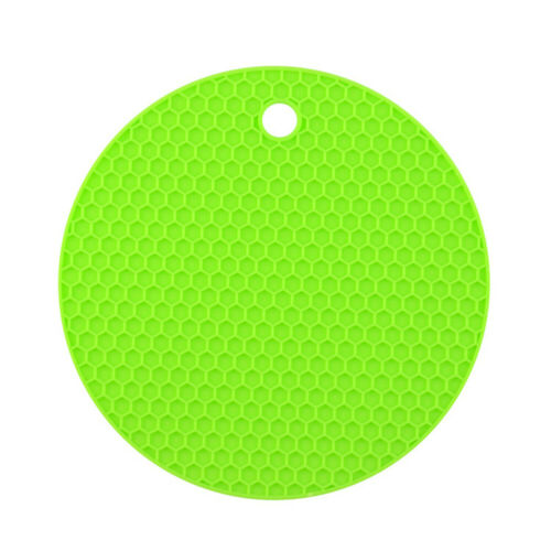 Round Silicone Heat Insulation Mat Glass Non-slip Mat Heat-resistant Table Mat
