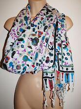 New Rayon Shawl Scarf  - Hippy Boho Ethnic Fair Trade India Flowers