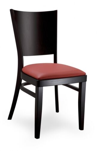 Stuhl, Gestell mass. Buchenholz u. Sitzbezug in versch. Farben, exzell. Qualität