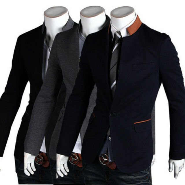 Black Friday Hot Sell Collar Fashion Slim Fit Men's Suit Blazer Coats Jackets