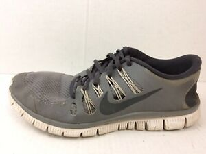 100% authentic 1b4c6 aea44 Details about Nike Free 5.0 + Mens 9 Med Running Shoes Cool Grey Anthracite  White 579959 001
